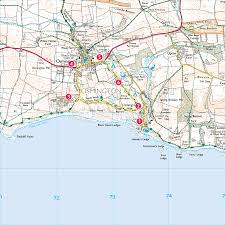 Barrows Map Smugglers Inn Osmington And Osmington Mills Print Walk South