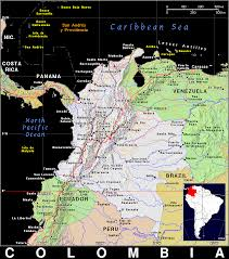 Map Of Colombia Co Colombia Public Domain Maps By Pat The Free Open Source