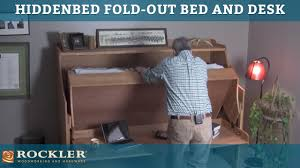 Desk Turns Into Bed Hiddenbed Fold Out Bed And Desk Mechanism Youtube