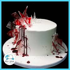 birthday cake halloween bloody glass birthday cake u2013 blue sheep bake shop halloween