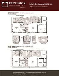 schult modular home floor plans schult timberland 6432 401 excelsior homes west inc