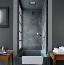 grey bathroom ideas picturesque concrete square tubs with wooden bathroom table also