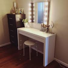 Vanity Makeup Desk With Mirror Vanity Desk Mirror Ikea Wooden Countertop Curved Top Dark Wood