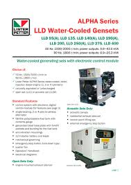 lld water cooled gensets lister petter pdf catalogue