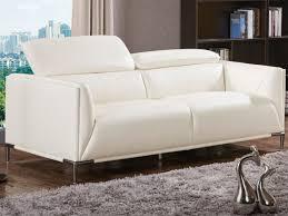 canapé 3 places cuir blanc canapé 3 places en cuir de vachette blanc avenio