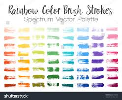 rainbow color paint brush strokes can stock vector 635253188