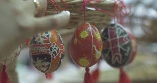 Decorating Easter Eggs Video by Child Hands Decorating Easter Eggs Stock Footage Video 5442284