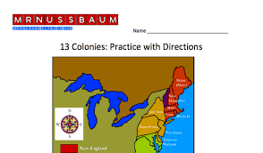 map of colonies 13 colonies printables