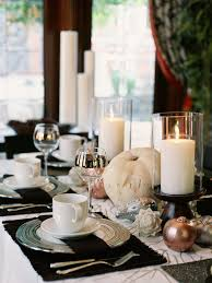 thanksgiving table decorations modern glittering fall table setting and centerpiece ideas fall table