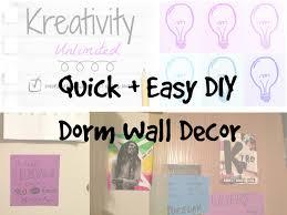 Dorm Room Wall Decor by Quick Easy Diy Dorm Wall Decor Youtube
