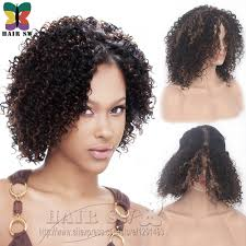 lace front deep invisible l part synthetic short wig natural jerry