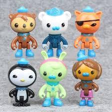 wholesale 6 pcs set dolls anime octonauts plastics