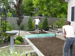 after breathing room small backyard no grass with to backyard