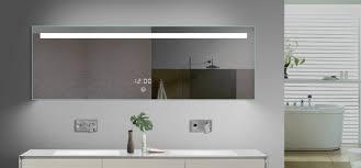 Backlit Bathroom Vanity Mirrors Bathrooms Design Lighted Bathroom Wall Mirror Brushed Nickel