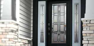 Exterior Steel Entry Doors With Glass Fiberglass Exterior Doors With Glass Classic Craft Mahogany