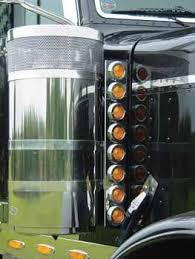 peterbilt air cleaner lights breather light bars 75 chrome shop