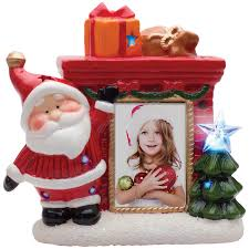 wholesale christmas picture frames light up santa photo frame