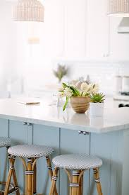 blue kitchen island with oak cabinets inspiring white kitchen with light blue island home bunch
