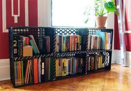 Crates For Bookshelves - milk crate storage shelves storage decorations