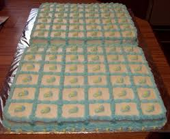 boy baby shower cake squares from sandy u0027s kitchen party ideas