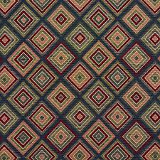 navy burgundy and coral abstract tapestry upholstery fabric