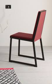 Metal Frame Dining Chairs Furniture Impressive Burgundy Leather Dining Chairs Images