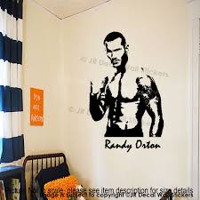wwe wall murals roman reigns figure wrestlers randy orton vinyl wall stickers wwe wrestler figure decals