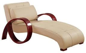 Leather Chaise Lounge Al Cappuccino Leather Lounge Chair Contemporary Indoor Chaise