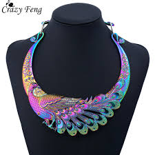 ethnic necklace aliexpress images Crazy feng retro ethnic carved colorful peacock big necklace jpg