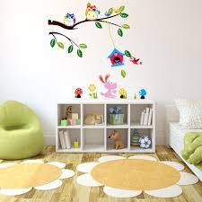 kids room the talking walls fantastical forest nursery mural kids room children kids room wall sticker diy removable forest owl tree bird within kids