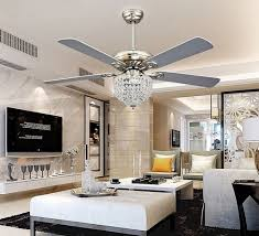 Ceiling Fan In Living Room by Contemporary Crystal Ceiling Fan Med Art Home Design Posters