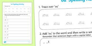 spelling activity ou spelling activity spell activity