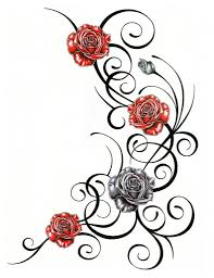 roses and vines designs ideas with roses