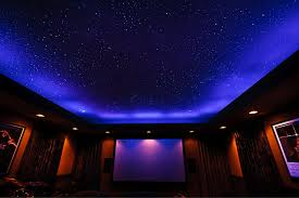 glow in the ceiling ceiling fiber optics or painted sky murals