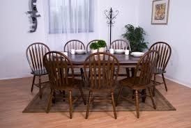 extension dining room table sunset trading 9pc extension dining set with arrowback chairs
