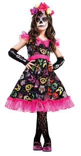 Reno 911 Halloween Costume Girls Sugar Skull Sweetie Dead Dress 40107 911