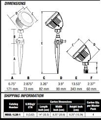 Hubbell Lighting Hubbell Lighting Mbul 1l3k 1 Led Mini Bullet Flood 13w Wet Rated Dlc