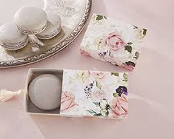 kate aspen garden floral slide favor box with tassel set of 24