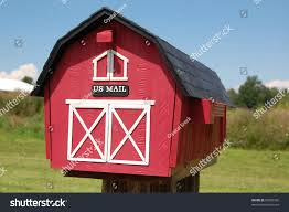 red barn mailbox stock photo 26585326 shutterstock