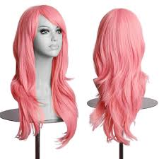 women long hair wig curly wavy synthetic anime cute cosplay