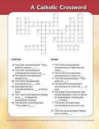 the ten commandments crossword