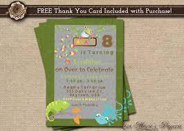 reptile birthday invitation birthday party invitation boy