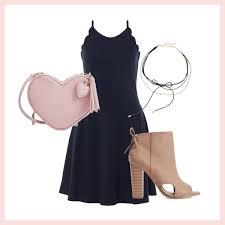 black dress with pink accessories black dress pants