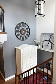 Entryway Armoire by 2 Storey Foyer Entryway With Round Large Clock White Armoire