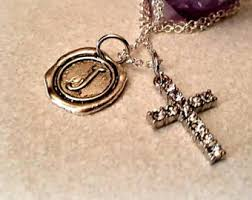 cross locket necklace images Sparkly cross etsy jpg