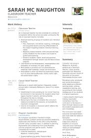 Resume Samples For Teacher by Classroom Teacher Resume Samples Visualcv Resume Samples Database