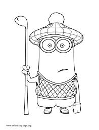 despicable minion golfer coloring
