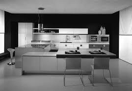 Kitchen Modern Small Kitchen Design Ideas Black And White Color