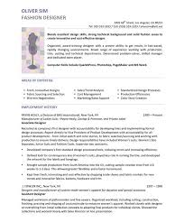 Resume Samples For Designers by Fashion Designer Resume Sample 19 Fashion Cv Example And How It