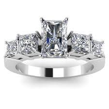 designer wedding rings radiant princess cut designer engagement ring
